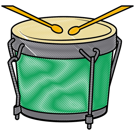 African drum music instrument icon illustration graphic design.