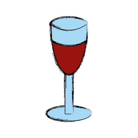 Cup of wine icon vector illustration graphic design.