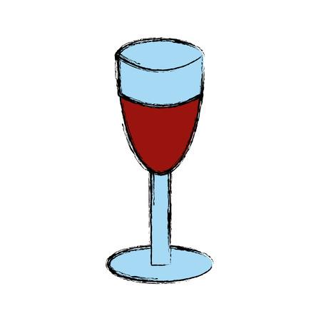 Cup of wine icon vector illustration graphic design.