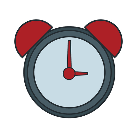 Alarm clock with bells icon illustration graphic design. Illustration