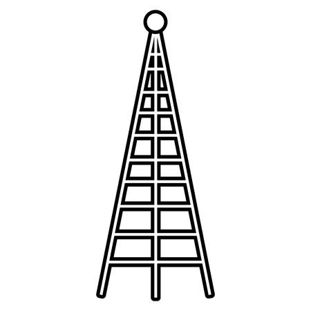 Antenna isolated icon illustration graphic design.