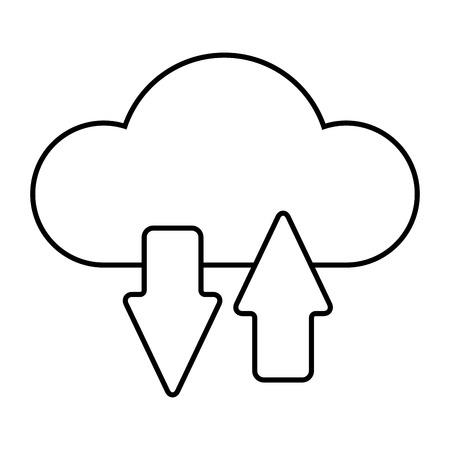 Cloud computing technology icon illustration graphic design. Çizim