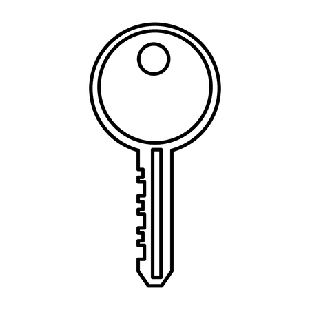 Door key isolated icon illustration graphic design.
