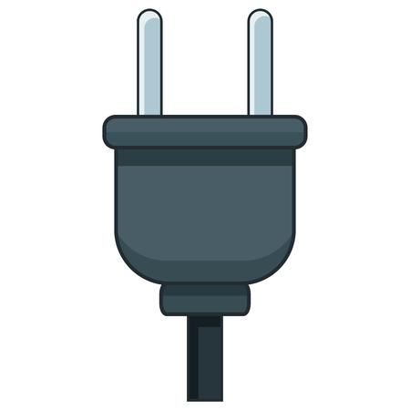 Electric plug isolated icon vector illustration graphic design