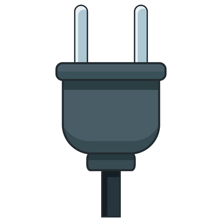 Electric plug isolated icon vector illustration graphic design