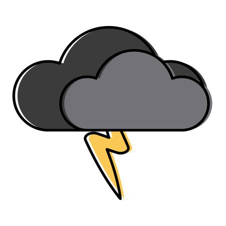 Cloud with rain symbol icon illustration graphic design.