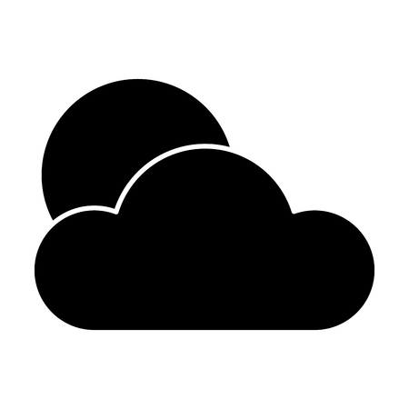 Cloud and sun icon vector illustration graphic design Illustration