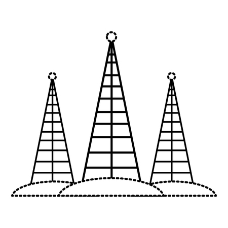Communications antennas isolated icon vector illustration graphic design Illustration