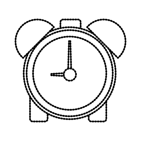 Alarm clock with bells icon vector illustration graphic design Vettoriali