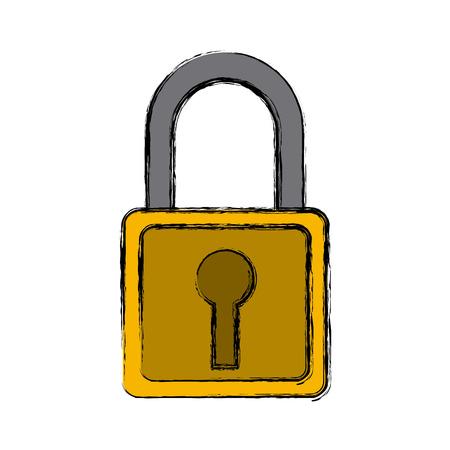 Security padlock symbol icon vector illustration graphic design
