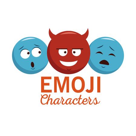 Emoji chat characters icon vector illustration graphic design Illustration