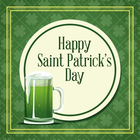 Happy saint Patricks day card icon vector illustration graphic design. Illustration