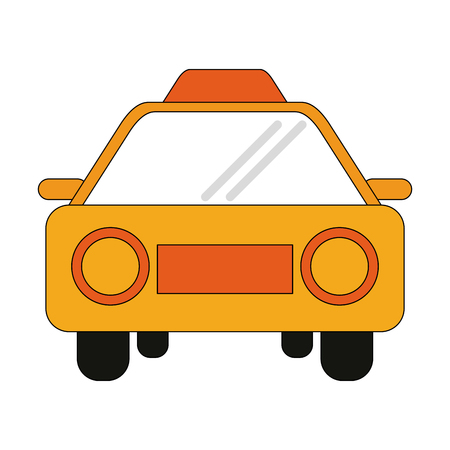 Taxi cab frontview icon vector illustration graphic design