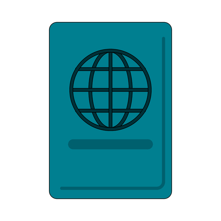 Passport travel document icon vector illustration graphic design Ilustração