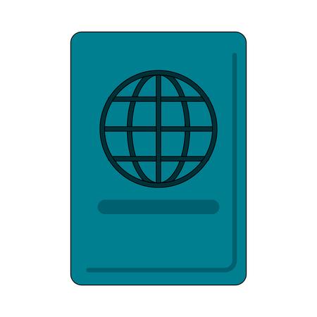 Passport travel document icon vector illustration graphic design Illustration