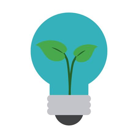 Green energy bulb symbol icon vector illustration graphic design Illustration