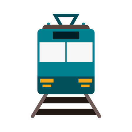 Train frowntview symbol icon vector illustration graphic design