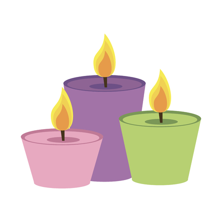 Spa candles aromatherapy icon vector illustration graphic design Illustration