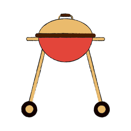Bbq grill isolated icon vector illustration graphic design Illustration