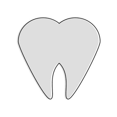 Tooth dental symbol icon vector illustration graphic design