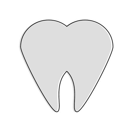 Tooth dental symbol icon vector illustration graphic design