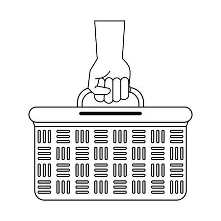 Picnic basket isolated icon vector illustration graphic design