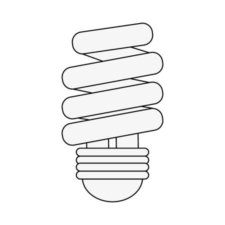 Spiral bulb light icon vector illustration graphic design