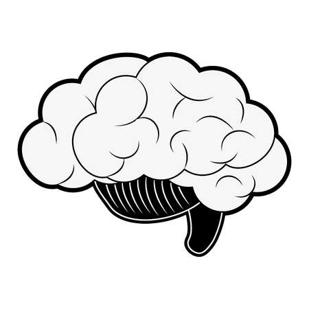 Human brain symbol icon vector illustration graphic design. Illustration