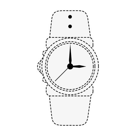 Wristwatch accesory isolated icon vector illustration graphic design