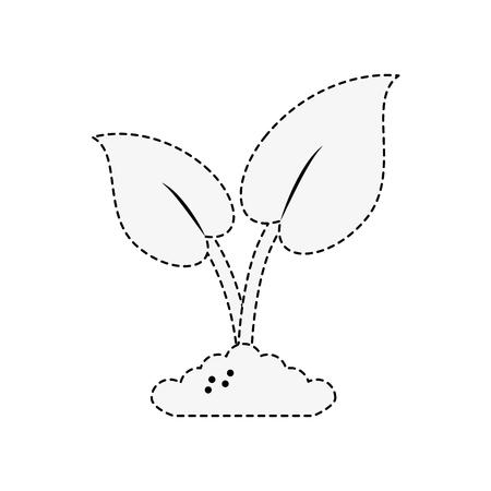 Plant eco symbol icon vector illustration graphic design Illusztráció