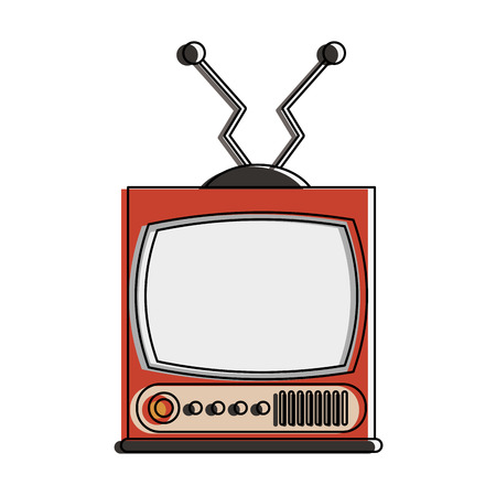 Old television technology icon vector illustration graphic design