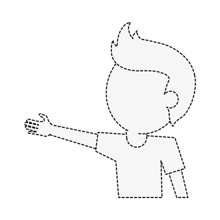 Young man cartoon icon vector illustration graphic design Vectores