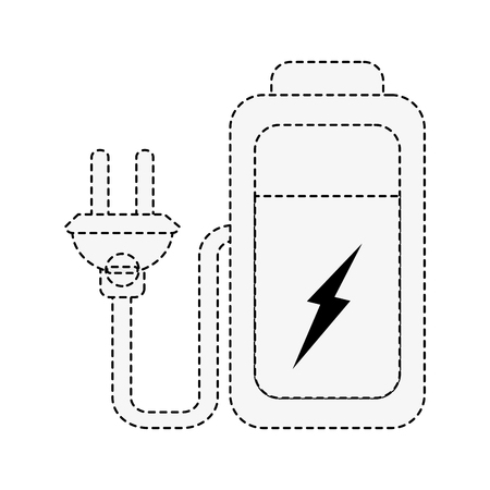 Battery with plug icon vector illustration graphic design