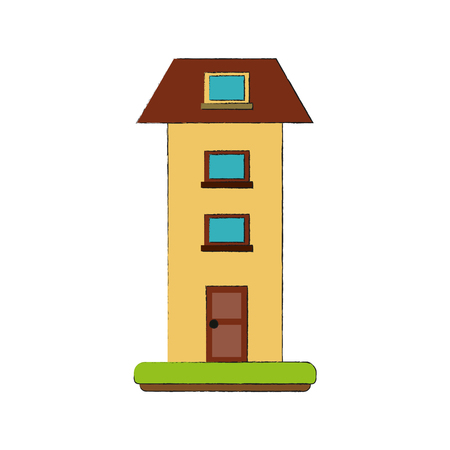 Two floors house icon vector illustration graphic design.