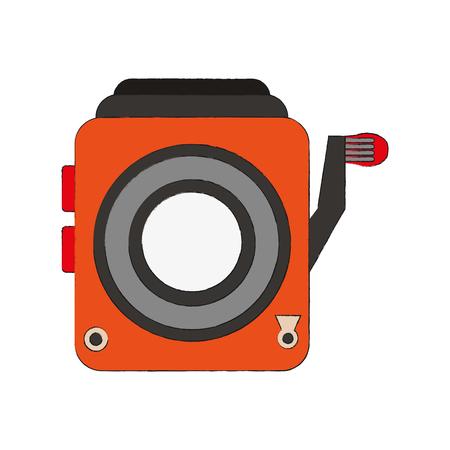 Retro camcorder symbol icon vector illustration graphic design. Illustration