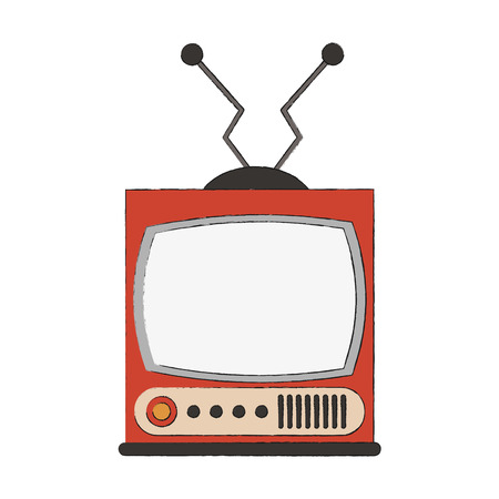 Old television technology icon vector illustration graphic design.