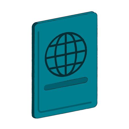 Passport travel document icon vector illustration graphic design. Vettoriali