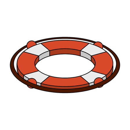 Lifesaver float symbol icon. Vector illustration graphic design.