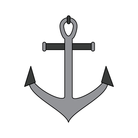 Anchor marine symbol icon. Vector illustration graphic design.