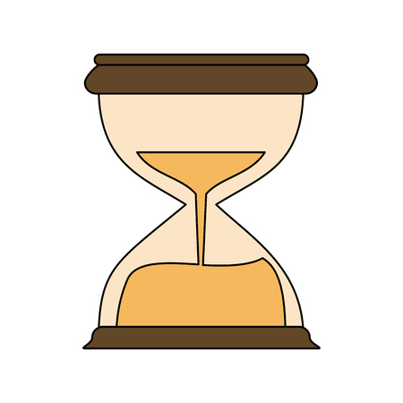 Hourglass antique clock icon. Vector illustration graphic design.