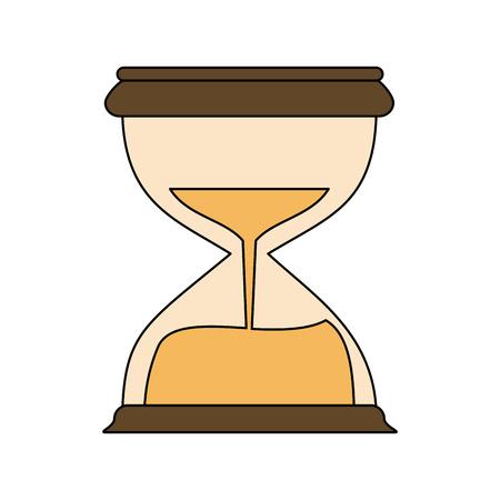Hourglass antique clock icon. Vector illustration graphic design.