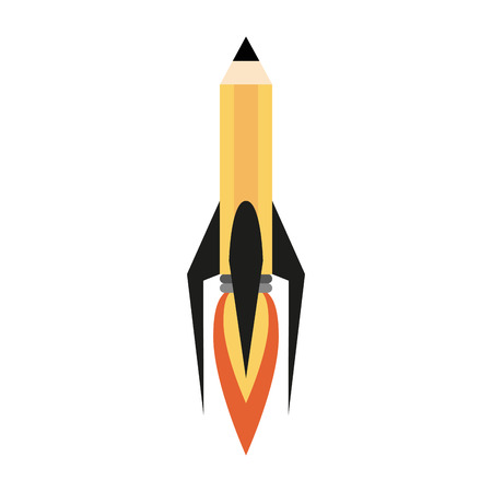 Pencil rocket start up symbol icon vector illustration graphic design Illustration