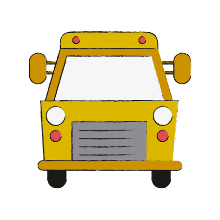 School bus, front view icon. Vector illustration graphic design.