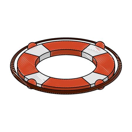 Lifesaver float symbol icon vector illustration graphic design.