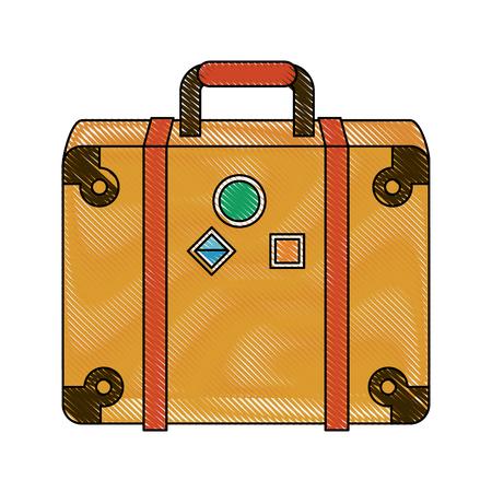 Travel suitcases symbol icon vector illustration graphic design. Illustration