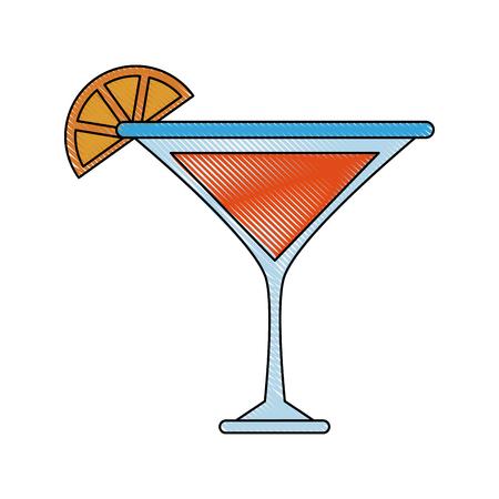 Lemon cocktail drink icon. Vector illustration graphic design. Illustration