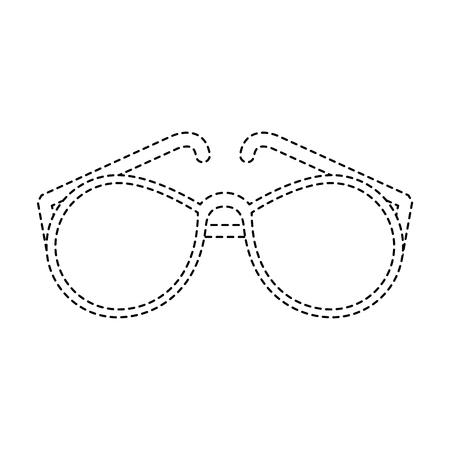 Fashion sunglasses isolated icon vector illustration graphic design Banco de Imagens - 93250794