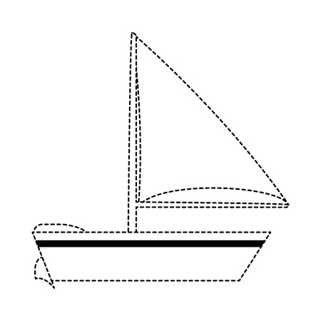 Sailboat isolated symbol icon vector illustration graphic design.