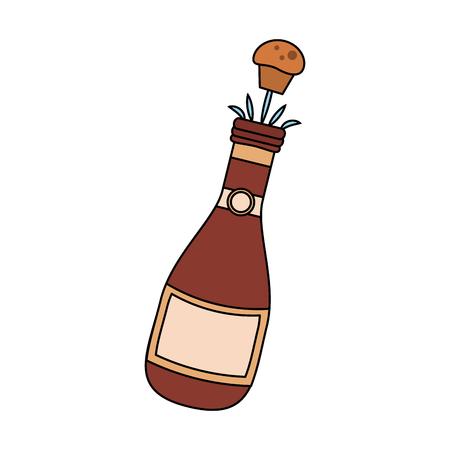 Champagne bottle open icon vector illustration graphic design