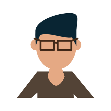 Geek man cartoon icon vector illustration graphic design Illusztráció
